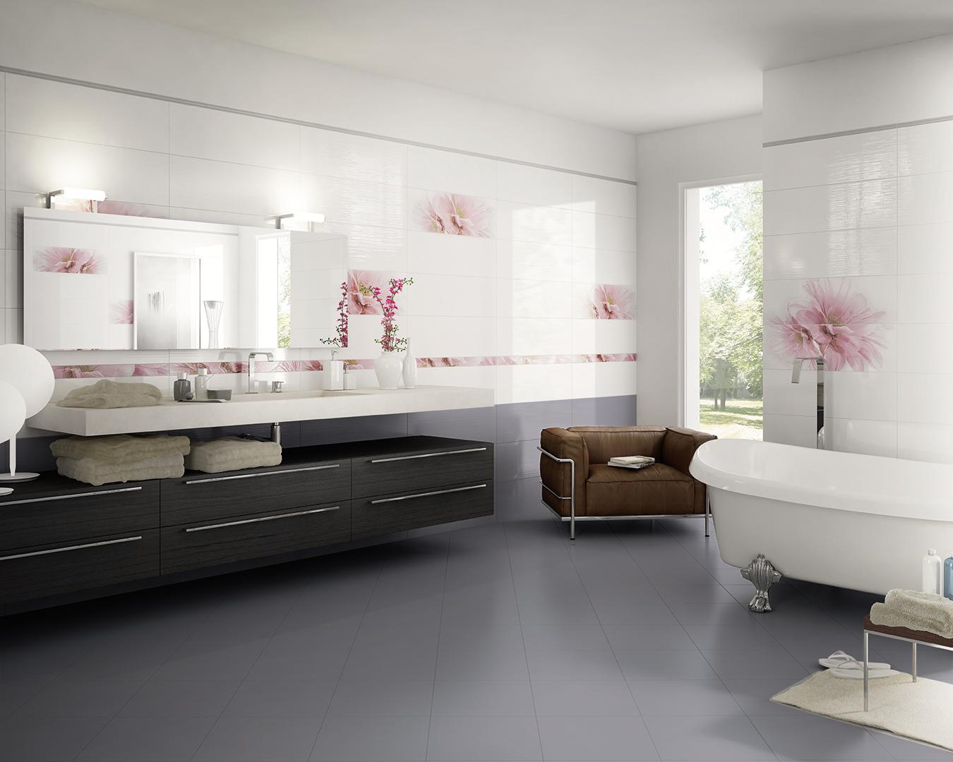 Pavimento bagno grigio affordable bagno velvet grigio for Armonie d arredo